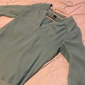 Sheer blue blouse